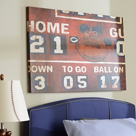 Football Scoreboard Canvas Art Print