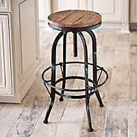 Industrial Black and Aqua Bar Stool