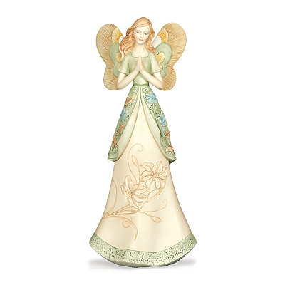 Green Abundant Grace Angel Figurine