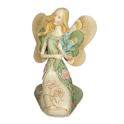 Kneeling Hope Blossom Angel Figurine