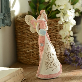 Pink Everlasting Love Angel Figurine