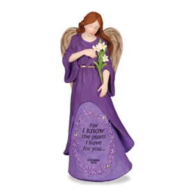 Purple Plans Angel Figurine