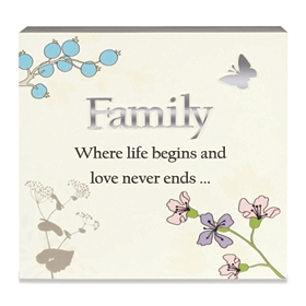 Ivory Family Love Never Ends Plaque