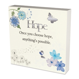Ivory Once You Choose Hope Plaque