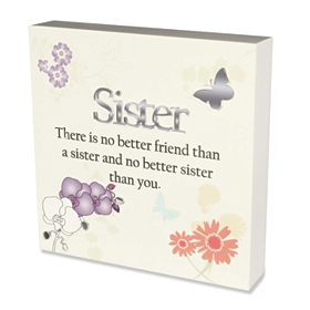 Ivory No Better Sister Than You Plaque