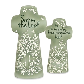 Serve the Lord Cross Statue