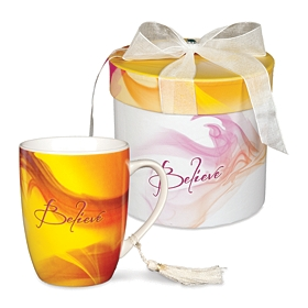 Orange Believe Mug & Gift Box