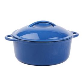 Blue Cast Iron Casserole Dish, 4.5 qt.