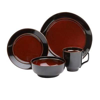 Bella Stoneware Red 16-pc. Dinnerware Set