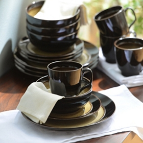 Bella Stoneware Taupe 16-pc. Dinnerware Set