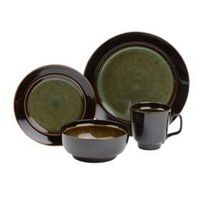 Bella Stoneware Green 16-pc. Dinnerware Set
