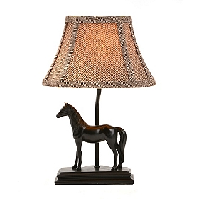 Black Horse Table Lamp