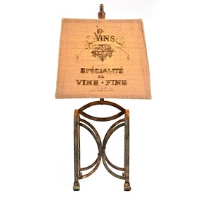Metal Wine Rack Table Lamp