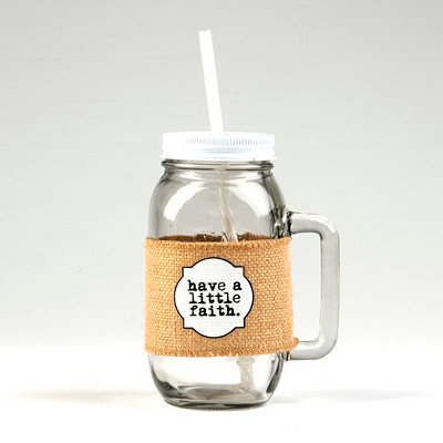 Have a Little Faith Mason Jar Mug