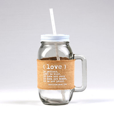 Love Is… Burlap Mason Jar Mug