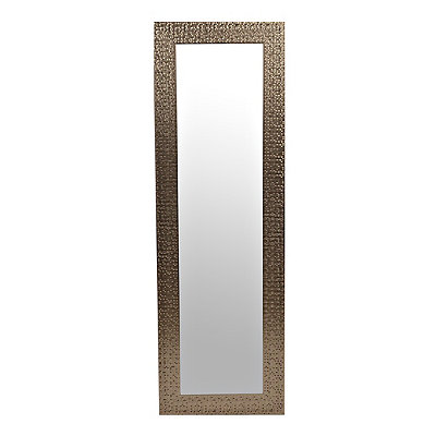 Silver Metallic Blocks Over-the-Door Mirror
