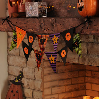 Trick or Treat Pennant Banner