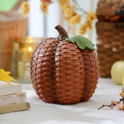 Orange Wicker Pumpkin