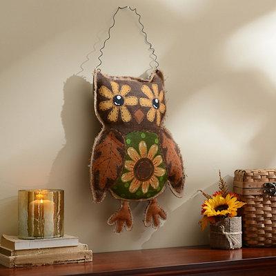 Burlap Owl Wall Hanger