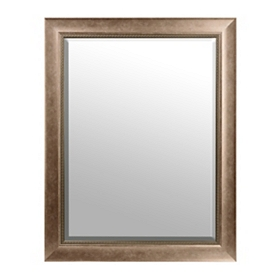 Antiqued Silver Framed Mirror, 36x46 in.