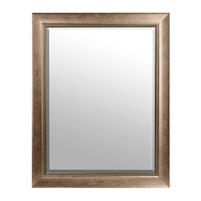 Antiqued Silver Framed Mirror, 36x46