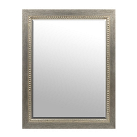 Brushed Silver Framed Mirror, 36x46