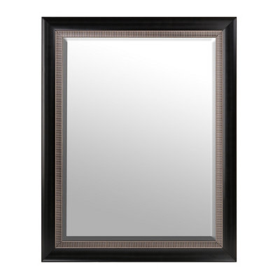 Black & Silver Framed Mirror, 36x46