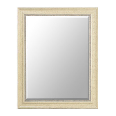 Antique Cream Framed Mirror, 38x48