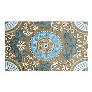 Chatham Blue Scrollwork Scatter Rug