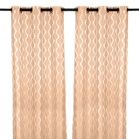 Baroque Tan Curtain Panel Set, 84 in.