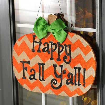 Happy Fall Y'all Wall Plaque