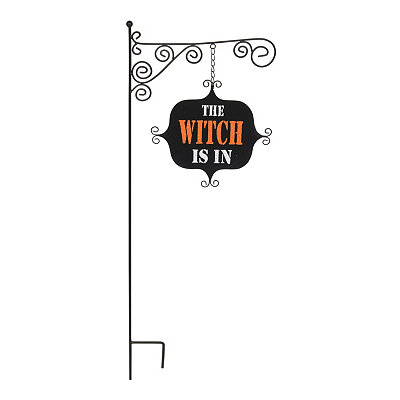 The Witch Is In Yard Sign