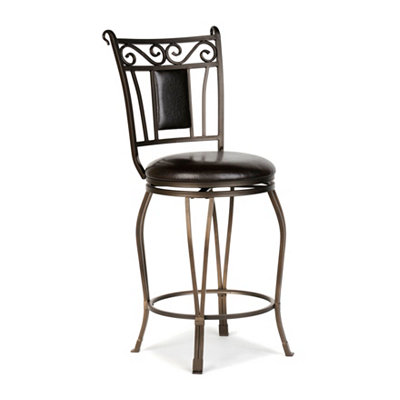 Dark Champagne Padded Counter Stool
