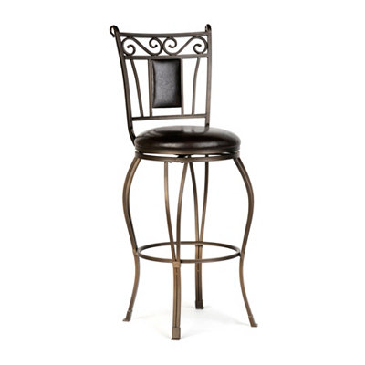 Dark Champagne Padded Bar Stool