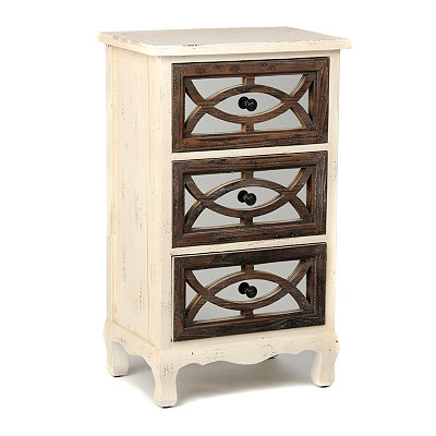Distressed Cream Millie Side Table