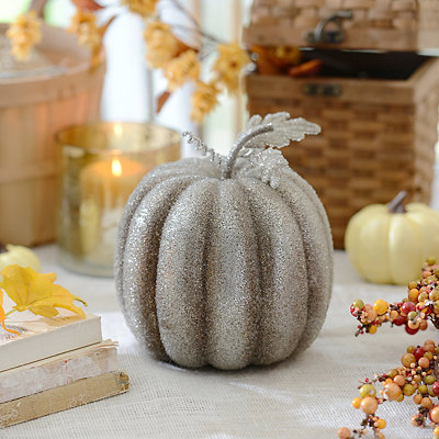 Metallic Silver Pumpkin