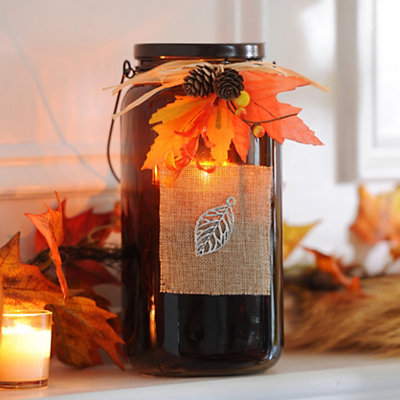 Bountiful Harvest Brown Tealight Candle Holder