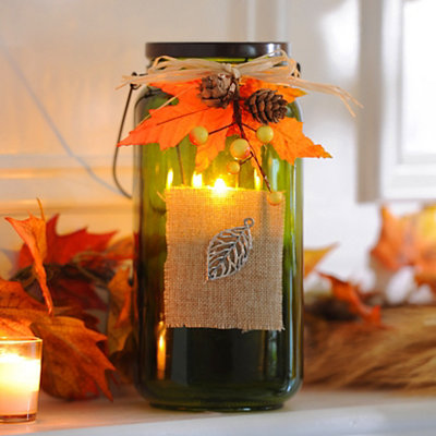 Bountiful Harvest Green Tealight Candle Holder