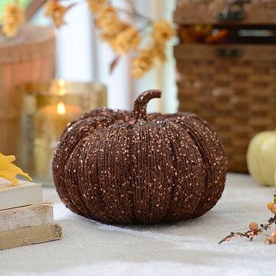Glitzy Bronze Pumpkin