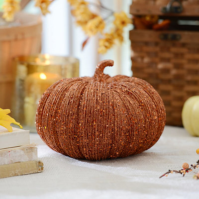 Glitzy Orange Pumpkin