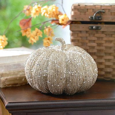 Glitzy Silver Pumpkin
