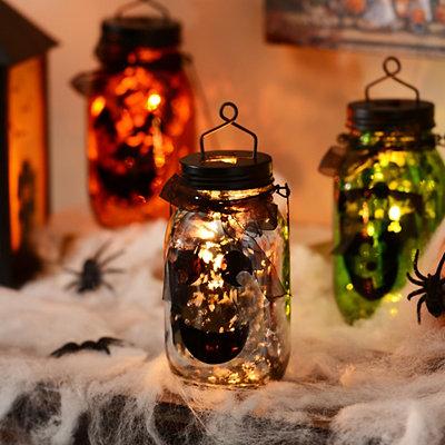 Ghost Mason Jar Lantern