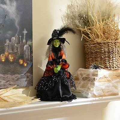 Well-Dressed & Wicked Witch Figurine