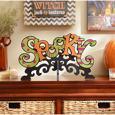 Spooky & Sparkly Tabletop Sign