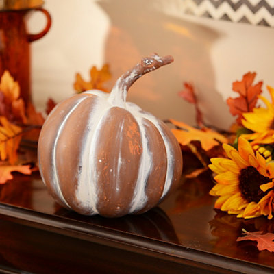 Whitewashed Terra Cotta Pumpkin