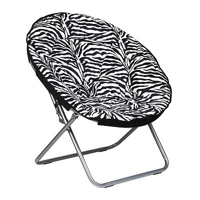 Zebra Print Papasan Chair