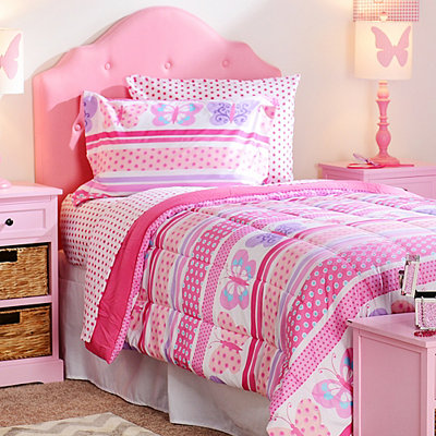 Butterfly Dots Full Comforter Set, 7-pc.