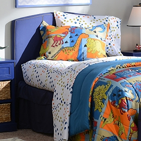 Dino Blocks Full Comforter Set, 7-pc.