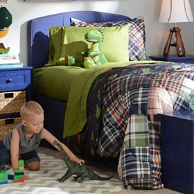 Dinosaur Twin Comforter Set with Friend, 7-pc.