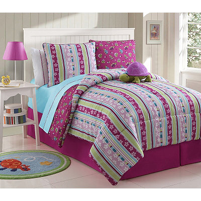Khloe the Turtle Full Comforter Set, 9-pc.